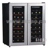 SICAO品牌--双温区红酒柜140L