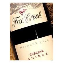 2000 Fox Creek澳大利亚 葡萄酒RESERVE 西拉子