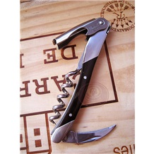 Laguiole|拉吉奥乐城堡酒刀[法国国刀.酒刀之王]黑牛角手柄