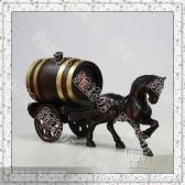橡木桶*0.75L单马拉二轮车*自酿葡萄酒专用*工艺品