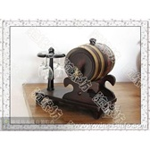 橡木桶*0.75杯架式(仿古色)*自酿葡萄酒专用*工艺品