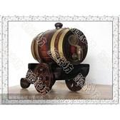 橡木桶*0.75L仿古色二轮炮车*自酿葡萄酒专用*工艺品