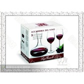水晶杯*意大利路易治.波米奥尼水晶系列*醒酒器+波尔多葡萄酒杯(1+2)