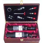 批发双支红酒木盒 含8件酒具