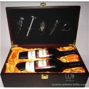 双支装葡萄酒木制包装礼盒5件酒具<供应现货>