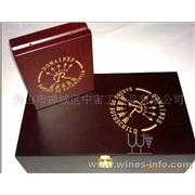 双支法国波尔多拉菲红酒礼盒 加工\设计\激光雕刻LOGO