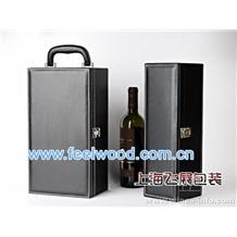 单瓶装红酒盒、双瓶装红酒盒、红酒皮质包装盒、红酒木盒包装盒(热卖中)
