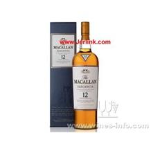 原装进口洋酒麦哥林麦卡伦麦高伦12年麦芽威士忌 The Macallan 12 Years Single Malt Whisky (Elegancia) 1L