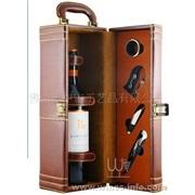皮盒 单支红酒皮盒套装 皮盒开瓶器套装(供应现货)