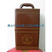 红酒盒/双支皮盒 5件酒具(印有拉菲图案、现货)