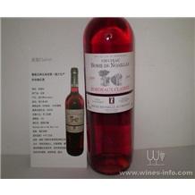 法国原装进口爱莲古堡玫瑰红(clairet)葡萄酒波尔多AOC