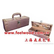 真皮酒盒、皮革红酒盒、仿皮酒盒(上海飞展包装盒厂家)