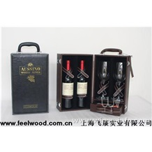皮质红酒盒0039、飞展皮质红酒盒0039(飞展包装)