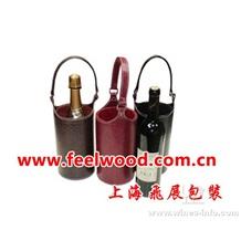 仿皮酒盒、皮革葡萄酒盒、PU红酒盒、(工厂现货红酒盒  百度推荐)
