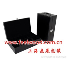 木制仿古红酒盒(飞展红酒盒 上海飞展红酒盒、中秋红酒盒、中秋红酒包装盒)