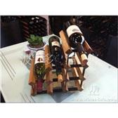 波多新型楼梯型红酒架/个性化自装红酒架/实木红酒架