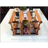 波多新凹型红酒架 9瓶/红酒展示陈列架