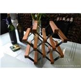 波多新型B网型红酒架 5瓶/个性小型储藏葡萄酒架