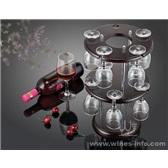 葡萄酒杯架木质红酒杯架  双层实木杯架 玻璃杯架 家居杯架 小酒吧