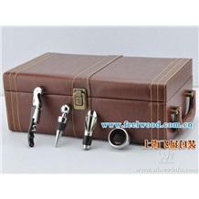 红酒木盒、木制红酒包装盒(上海飞展红酒盒2011年 现货热卖 一箱起订)