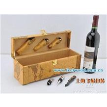 松木红酒盒  实木盒  现货热卖 皮质红酒盒
