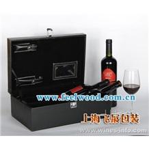 【现货特价】现货高档红酒盒,红酒包装盒,上海酒盒工厂 (飞展红酒盒)