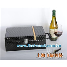 【现货热销】红酒盒 葡萄酒盒 包装礼盒 酒盒 红酒包装盒促销中 (飞展红酒盒)