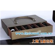 红酒盒 红酒礼盒 红酒包装盒 红酒皮盒 葡萄酒礼品盒 (飞展红酒盒)