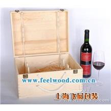 厂家直销木质 松木六支装红酒木盒 定做红酒盒 飞展红酒盒