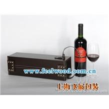 现货红酒盒,皮制红酒盒,高档红酒盒  飞展红酒盒