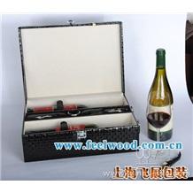 供应PU皮红酒盒 (上海飞展红酒盒专业生产)