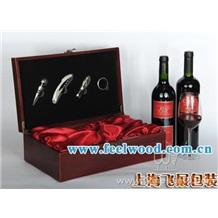上海飞展  厂家大量订做高档皮质红酒包装盒/六支装单排皮质红酒包装盒