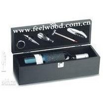 上海飞展 红酒木盒 红酒皮盒 酒盒包装 红酒皮盒包装 木盒礼品包装盒
