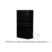 上海飞展供应黑色双支红酒礼品盒,红酒包装盒 红酒盒皮盒