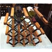 波多酒架实木架新型纹理形红酒架15瓶