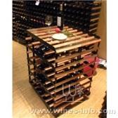 波多酒架56瓶全商标移动式品尝桌展示架