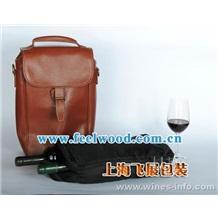 上海飞展 厂家定做高档PU红酒盒仿皮红酒盒高档红酒包装