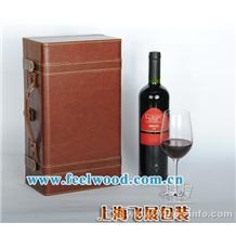 皮革葡萄酒盒(接受定做 现货热卖) 飞展红酒盒