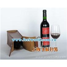 上海飞展工厂 订做红酒酒盒 皮质酒盒 单支酒盒