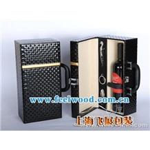 红酒包装盒 现货红酒盒 松木红酒盒 飞展红酒盒