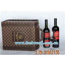 红酒盒、现货六支装PU皮葡萄酒盒/热销六只装红酒盒