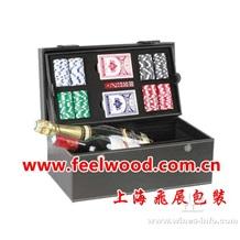热卖上海2012款式高档红酒盒、PU酒盒皮盒 专业厂家直销 (飞展)