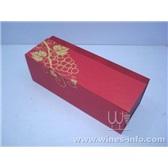 大量不同款式现货红酒纸盒/红色高档单支现货红酒纸盒/中秋大量低价促销