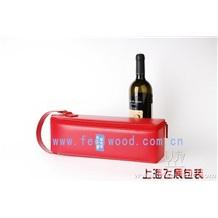 PU高档红酒盒,皮质包装红酒盒(2012年) 中秋红酒盒