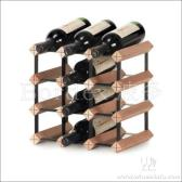 红酒架 实木酒架 波多自我安装12瓶红酒架