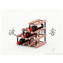 波多新型楼梯型多变组合式红酒架 实木酒架 创意红酒架
