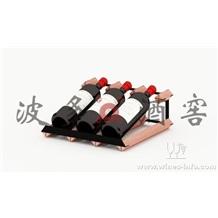 柜台酒架 波多新型柜台式红酒架3瓶 实木酒架
