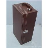 棕色现货酒盒/现货红酒皮盒/现货酒盒子
