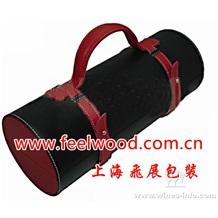 2013年春节款 厂家直销精美红酒皮质包装盒,优质皮盒酒盒,高档皮制酒盒 (工厂现货热卖)