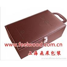 10月 特价 现货 PU高档红酒盒,皮质包装红酒盒(2013年) 红酒盒